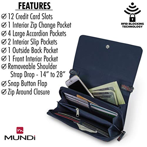 Women Crossbody Leather Bag Decade Theft RFID Vegan Purse Travel Wallet Handbag For Mundi Anti aI5xZ7qxw