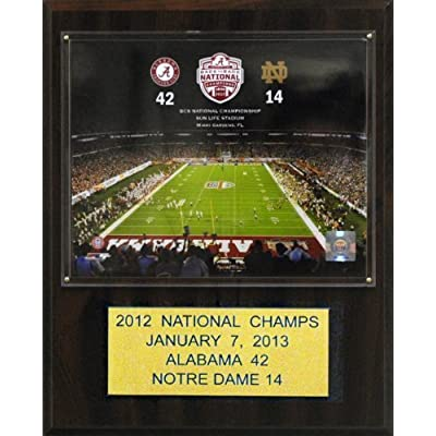 NCAA Alabama Crimson Tide 2012 Football Champions 12 x 15-Inch Plaque by C&I Collectables, Inc.