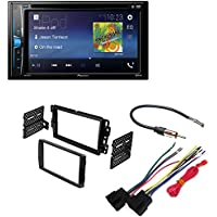 Pioneer AVH-200EX 2-Din 6.2 DVD/CD/iPhone/Android/Bluetooth + Car Radio Stereo 2-Din Dash Kit Harness for 2006-16 Buick Chevrolet GMC Pontiac