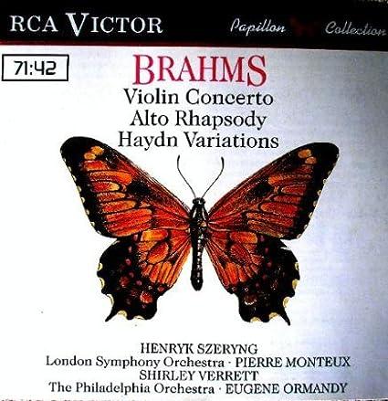 Brahms: Violin Concerto, Alto Rhapsody, Haydn Variations -PAPILLON  COLLECTION: Amazon.de: Musik
