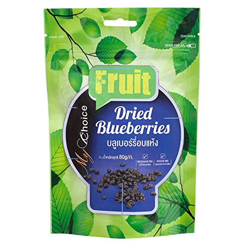 (My Choice, Fruit, Dried Blueberries, net weight 80 g (Pack of 1 piece) / Beststore by KK8)