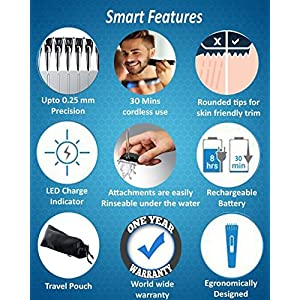 cheapest beard trimmers GOINBI+1Nova NHT  Rechargeable Cordless Beard Trimmer for Men in India