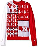 Klew NCAA Busy Block Sweater, Large, Nebraska Cornhuskers