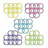 #4: 50 Pcs Multi-Color Metal Loose Paper Leaf Binder Rings Notebook Rings Book Rings Keychains Keyrings