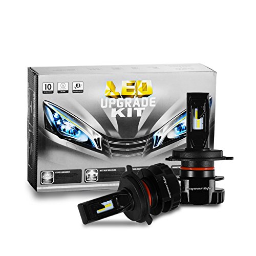 Honda Headlight Adjustment - Eyourlife H4(9003) LED Headlight Bulbs,2 Pack Colbeam Headlight Conversion Kit 7200Lm 6000k Cool White Driving Headlight Lamp-3 Years Warranty