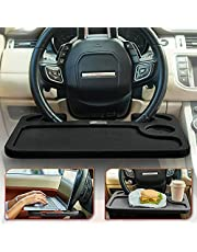 Steering Wheel Tray for Laptop & Food, Car Tray for Steering Wheel, Car Trays for Eating, Car Food Trays for Adults, Laptop Car Desk, Car Seat Travel Tray Table for Driver