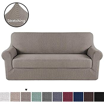 Amazon.com: Maytex Conrad 2-Piece Sofa Furniture Cover ...