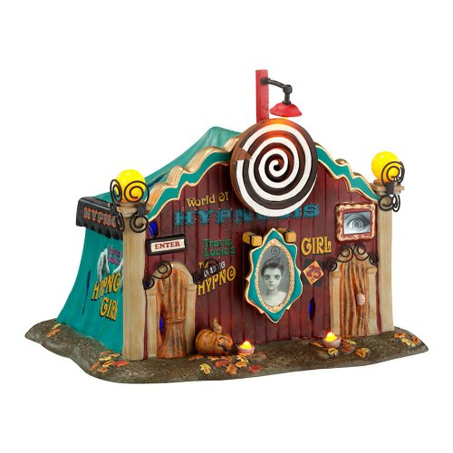 (Department 56 Snow Village Halloween Dolly's World of Hypnosis Lit House, 5.71)
