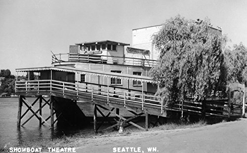 Seattle, Washington - Exterior View of the Showboat Theatre (12x18 Art Print, Wall Decor Travel Poster) ()