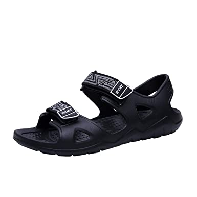 381ee370ccd19 Amazon.com: Men Sports Sandals Outdoor Athletic Hiking Leather ...