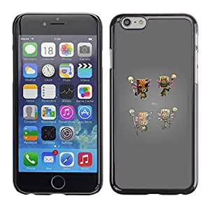 All Phone Most Case / Hard PC Metal piece Shell Slim Cover Protective Case Carcasa Funda Caso de protección para Apple Iphone 6 Plus 5.5 totem game console grey character