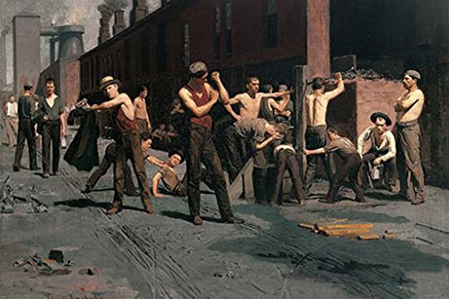 ArtParisienne The Ironworkers at Noontime Thomas Anshutz 12x18 Poster Semi-Gloss Heavy Stock Paper -