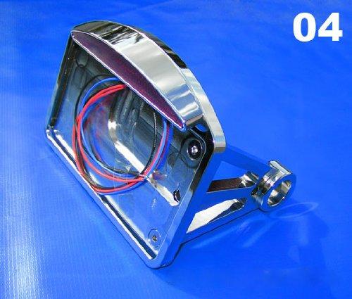 Chrome Billet Side Mount License Plate Bracket and LED Taillight for Harley Motorcycles (Chrome Mount Billet Motor)