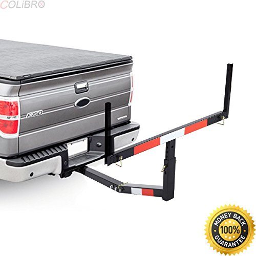 COLIBROX--Pick Up Truck Bed Hitch Extender Adjustable Steel Extension Rack Loads Flag. roof cargo basket. putting together curt roof rack. truck bed extender hitch harbor freight.