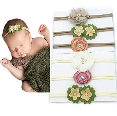 Baby Girls Big Flower Headband Newborn Hair Band - 8