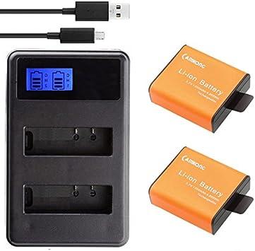 Amazon.com: camkong 2 pcs 1350 mAh batería de cámara de ...