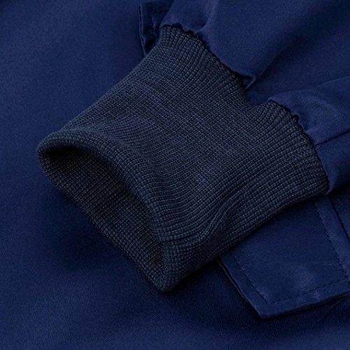 Azul de Mujeres Vovotrade® Cremallera con la Chaqueta Las n4aqwC8wx1