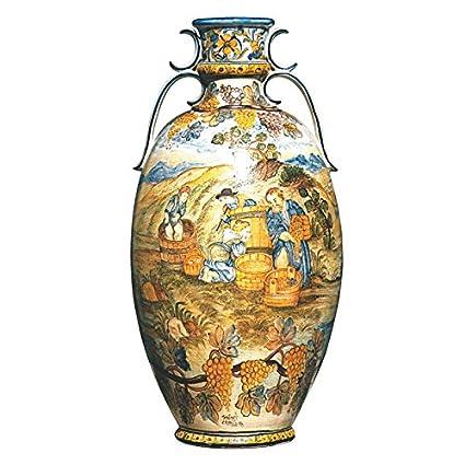 Vaso Anfora orcio dipinto a mano in ceramica artistica di Castelli ...
