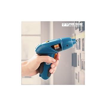 PWR Work IG107118 Destornillador eléctrico con accesorios, 5 W