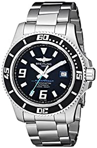 Breitling Men's A1739102/BA79 Superocean Analog Automatic-self-wind Black Dial Silver Stainless steel Watch