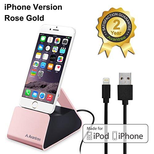Aluminum Mobile Desktop Station Holder Phone Dock Cradle Holder For iPhone (Gold) - 4
