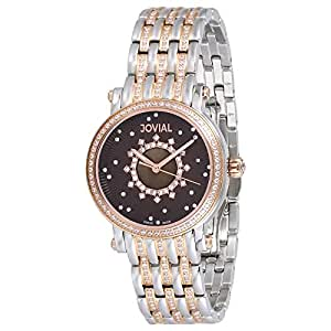 Jovial Women's Brown Dial Stainless Steel Band Watch - 9102LAMQ10Z