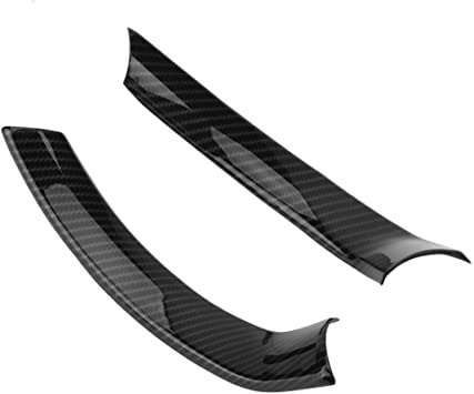 For Alfa Romeo Stelvio 2017-2018 Carbon fiber style Steering wheel cover trim