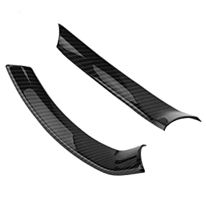 Keenso 2Pcs Car Interior Steering Wheel Carbon Fiber Decorative Decor Cover Trim for Alfa Romeo Stelvio/Giulia