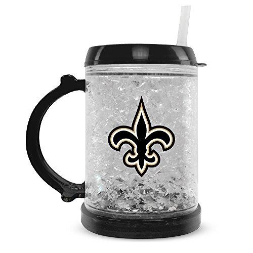 NFL New Orleans Saints 8oz Junior Crystal Freezer Mug with Lid and Straw