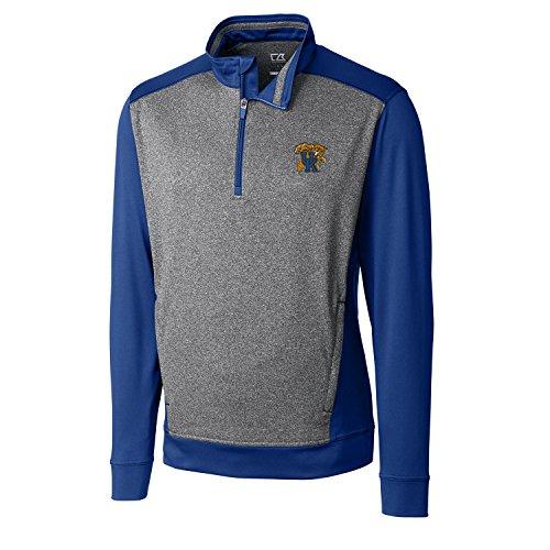 NCAA Kentucky Wildcats Adult Men CB Drytec Replay Half Zip, XX-Large, Tour Blue