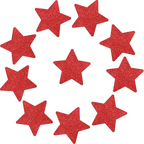 SoarDream 5 pairs Star(Red) Pasties Womens Disposable Pasties Thin Adhesive Breast Nipple Covers