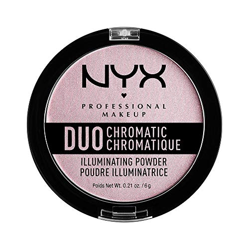 NYX PROFESSIONAL MAKEUP Duo Chromatic Illuminating Powder, Lavender Steel, 0.21 Ounce