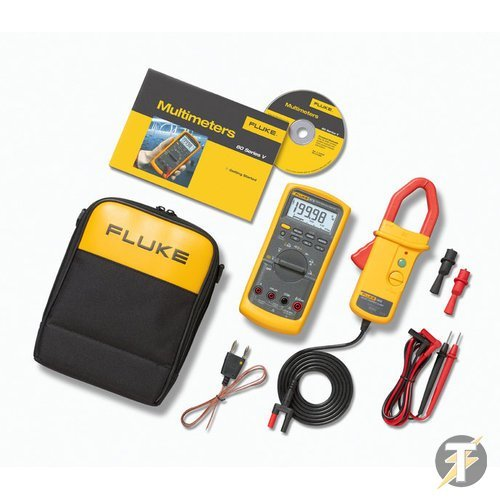 Fluke Combo Kit (87V & i410) - Comes With Fluke 87V 1000 Volt AC/DC Voltage Measurement, 10 Amp AC/DC Current Measurement, Industrial, True-RMS (TRMS) Digital Multimeter (Also Measures Resistance, Capacitance & Frequency) PLUS Fluke i410 AC/DC Current Clamp Meter, Can Be Equipped To Existing Devices Such As Multimeters, Allowing Current Measurements From 1 To 400 Amps