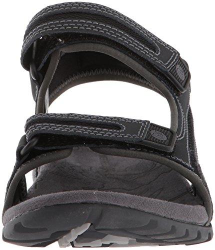 Merrell Sandspur Oak Herren Leder Sandalen Freizeitsandalen Sommer Trekking, J276754C Black Granite