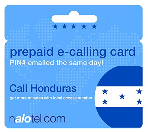 Prepaid Phone Card - Cheap International E-Calling Card $20 for Honduras with same day emailed PIN, no postage necessary by Nalotel