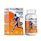 1500mg Glucosamine Sulfate (Shellfish Free & Vegetarian Safe) and 100mg Boswellia Serrata - Premium Joint Pain Relief Supplement by InvigoFlex® GS for Knees, Hands, Back, and Hip