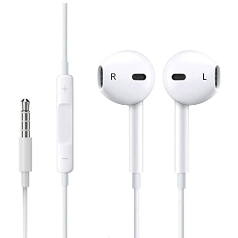 6db135aa4 Buy Premium Earbuds Headset  2 Pack   Wired Headphones Mic Remote Control  Fits iPhone iPod iPad Mac Android Samsung Galaxy Kindle MP3 MP4 (White) Online  at ...