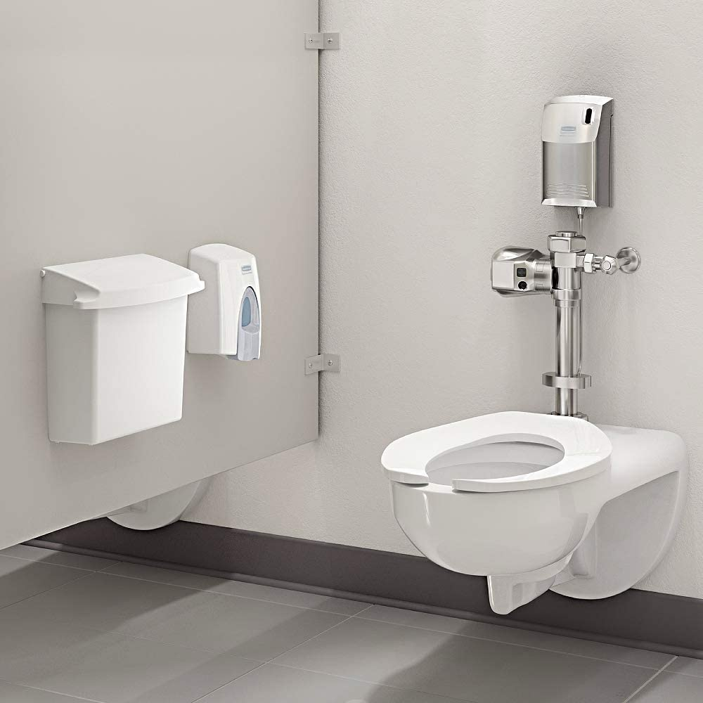 4-3//4 Length x 3-19//64 Width x 2-51//64 Height 4-3//4 Length x 3-19//64 Width x 2-51//64 Height Rubbermaid Commercial Products Rubbermaid FG401187A Auto Flush Side Mount Polished Chrome Toilet Flushing System