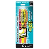 Pilot FriXion Light Erasable Highlighters, Chisel Point, 3-Pack, Assorted Colors, Yellow/Pink/Orange (46507)