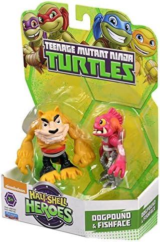 Teenage Mutant Ninja Turtles Pre-Cool Half Shell Heroes Dogpound and Fishface Figures