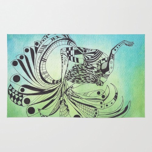Society6 Pisces Rug 4' x 6'