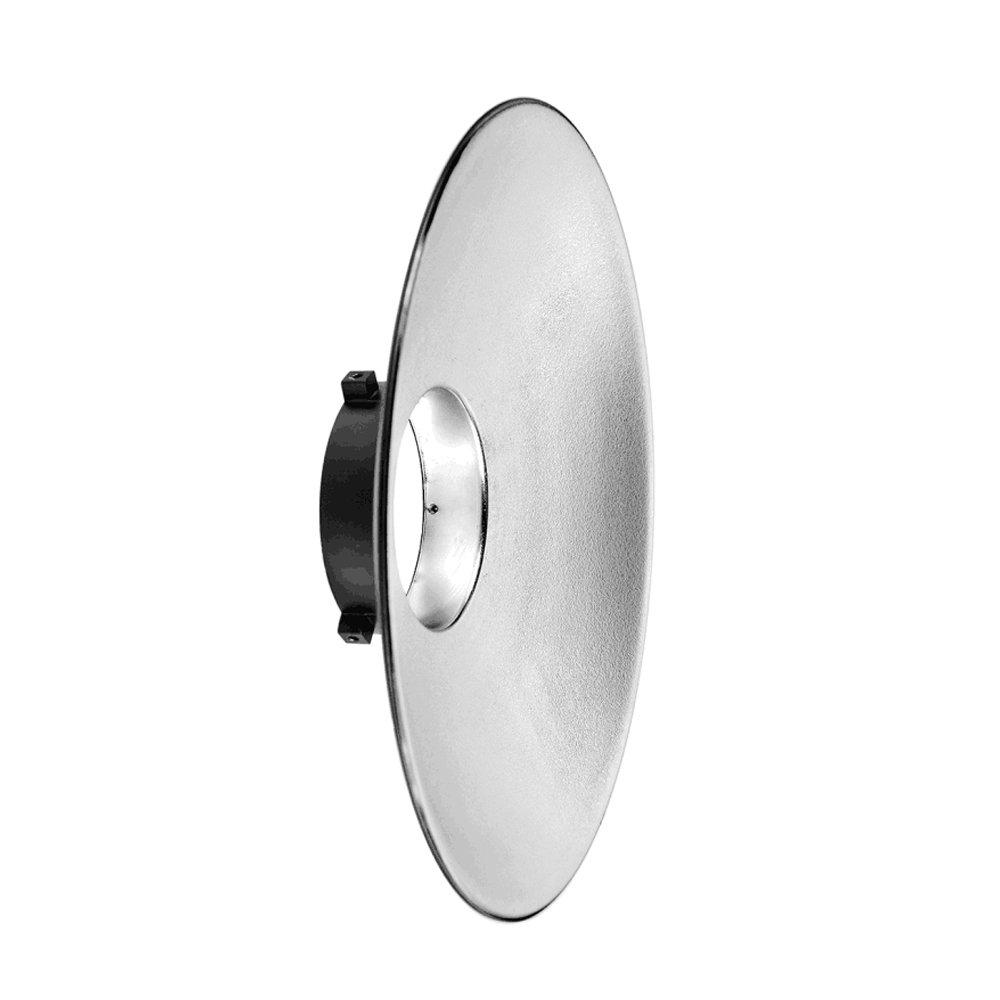 Godox Aluminum 120° 12.2'' Wide Angle Reflector Bowens Mount Diffuser Dish for Photography Studio Strobe Light