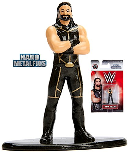 WWE Seth Rollins (W15) 1.5 Inch Diecast Nano Metal Figure by Jada (Rollins New Figure Action Seth)