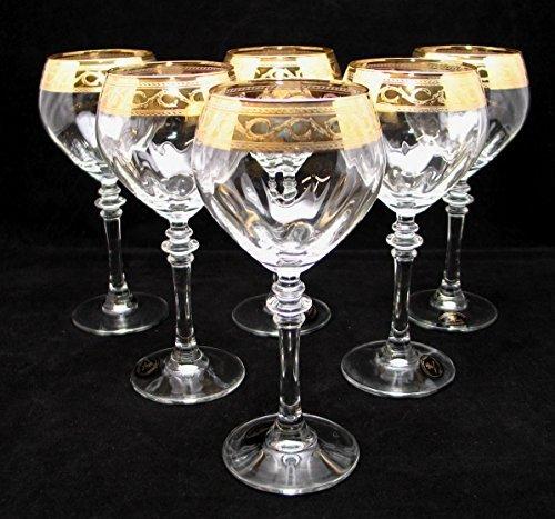 Cristalleria Fratelli Fumo Stemmed Crystal Water Wine