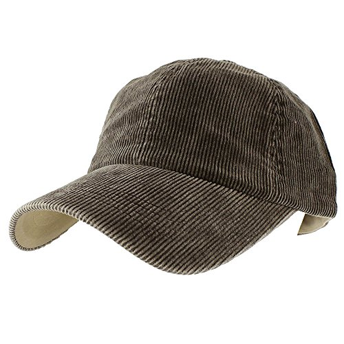Morehats Corduroy Cotton Vintage Baseball Cap Adjustable Hat - Chocolate