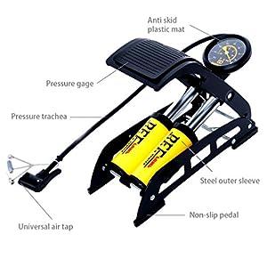 XinChangShangMao Portable Floor Pump for Car Motorcycle Bike Tires Foot Air Pump Inflator With Pressure Gauge