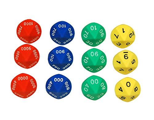 Learning Advantage 7429 Place Value Dice (Pack of 12) (Place Value Dice)