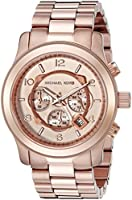 Michael Kors Watches Men's Rose Gold Oversize Runway Watch