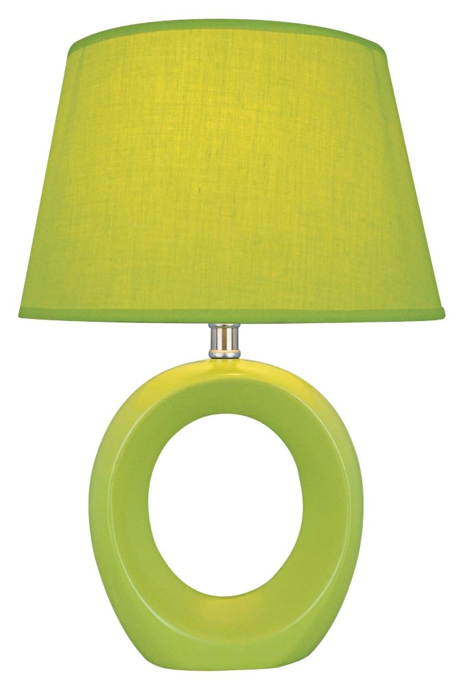 Lite Source LS 20585GRN Viko Table Lamp, Green With Donut Shaped Body   Table  Lamps For Bedroom   Amazon.com