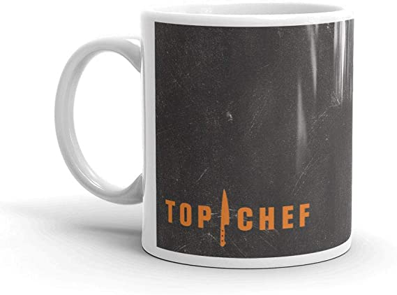 Amazon Com Top Chef Delicious Happens Here 11 Oz Mug Official Coffee Mug Kitchen Dining